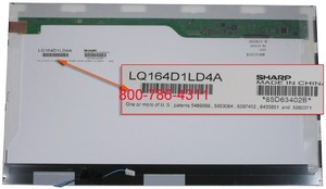 החלפת מסך למחשב נייד Sharp LQ164D1LD4A 16.4 1600x900 B164RW01  1 CCFL LCD Screen