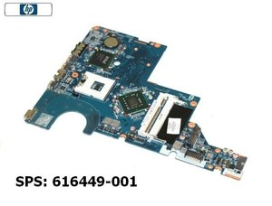 HP G72 / Compaq CQ62 Intel Motherboard 616449-001 לוח למחשב נייד
