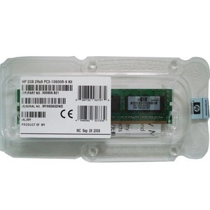 זיכרון לשרת HP 4GB 1x4GB PC3-10600 Registered CAS 9 Dual Rank x4 DRAM Memory Kit 500658-B21