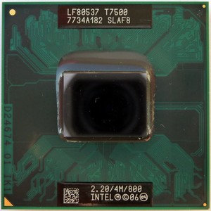 מעבד למחשב נייד Intel® Core™2 Duo Processor T7500 4M Cache, 2.20 GHz, 800 MHz FSB SLAF8
