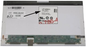 "מסך למחשב נייד בגודל LG LP145WH1-TLA1 14.5"" glossy wide LED display, 1366 x 768 resolution  אל ג'י"