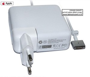 מטען אפל הדגם החדש !! Apple MacBook Air A1345 A1465 A1436 A1466 magsafe 2 pin 14.85V 3.05A Ac Power Adapter