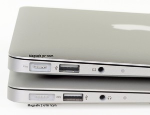 ספק כוח למחשב נייד  Apple Magsafe 2 - MacBook Pro Retina Display 60W  16.5V 3.65A A1435 אפל