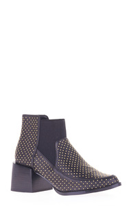 LIBBY BOOT-BLACK GOLD STUD
