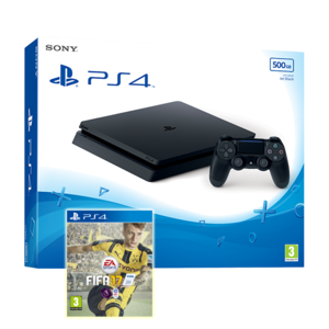 Sony Playstation 4 500GB slim+ FIFA 17 Bundle