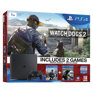 NEW PLAYSTATION 4 SLIM 1TB + 2 WD סוני