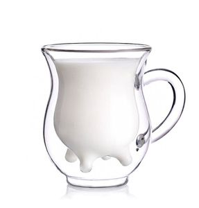 כלי הגשה לחלב דמוי עטיני פרה CowMilk glass