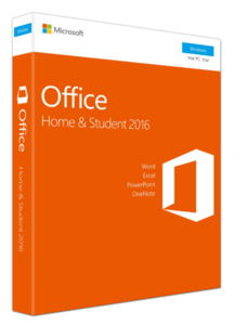 Microsoft Office Home and Student 2016 אנגלית מיקרוסופט