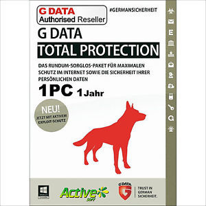 G-DATA TOTAL PROTECTION 1Y למחשב אחד