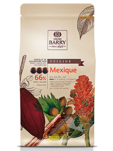 שוקולד ברי מריר 66% 1ק״ג MEXIQUE Cacao-barry