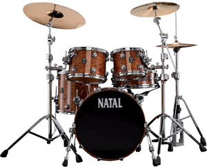 Bubinga Fusion 20 Natural Natal Drums