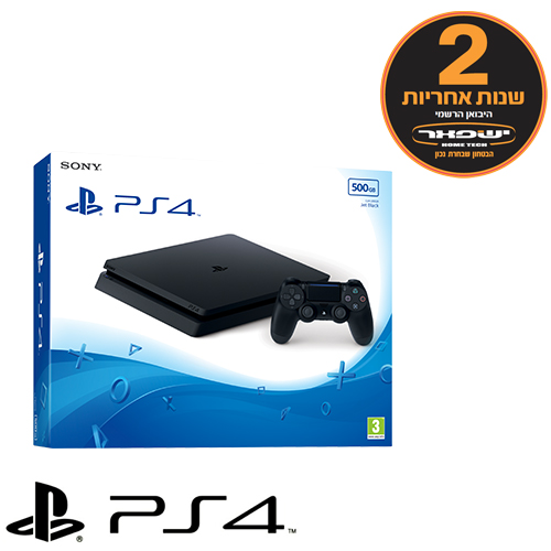 Sony PlayStation 4 SLIM 500GB יבואן רשמי