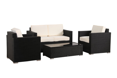 ... BroyerK 4 Piece Outdoor Rattan Patio Furniture Set ...