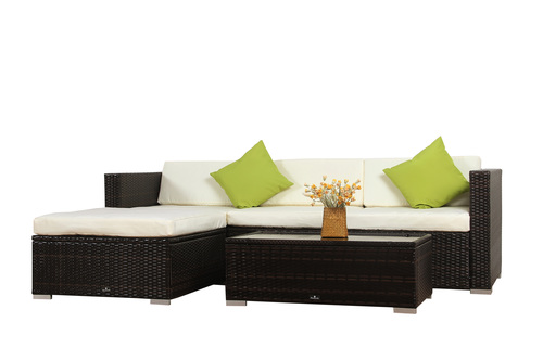 ... BroyerK 5 Piece Rattan Outdoor Patio Furniture Set ...