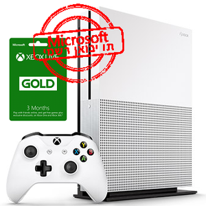 Microsoft Xbox One S 500GB+Gold Live 3 Month יבואן רשמי