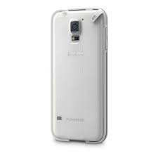 slim shell for galaxy s5 - clear white