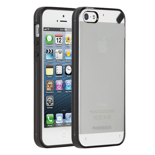 Slim Shell Case for iPhone 5S/5 - Clear Black